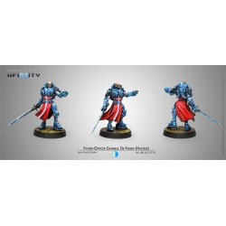 FATHER OFFICER GABRIELE DE FERSEN (HACKER) Panoceania Infinity miniature reference 281201-0712 by Corvu Belli