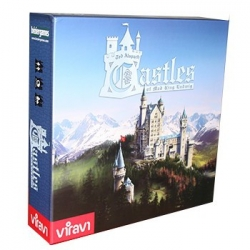 In Castles Of Mad King Ludwig, each player will try to build a magnificent castle, subject to the king's whims