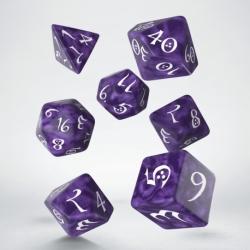 QW DADOS CLASSIC RPG LAVENDER & WHITE (7)