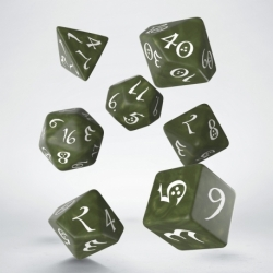 QW DADOS CLASSIC RPG OLIVE & WHITE (7)