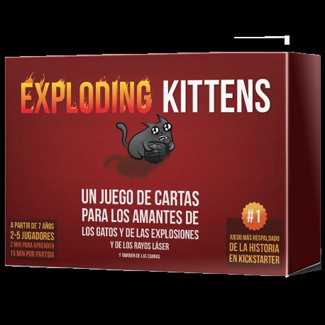 Exploding Kittens es un súper divertido juego de cartas para los amantes de los gatos.