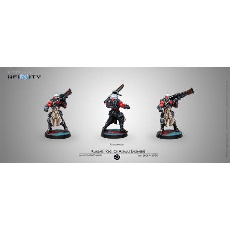 KURGATS, REG. OF ASSAULT ENGINEERS (AUTOCANNON) Ejército Combinado Infinity de Corvus Belli referencia 280694-0750