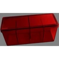 Caja 4 Espacios Acrilico Dragon Shield Rojo
