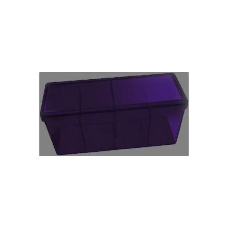 Caja 4 Espacios Acrilico Dragon Shield Violeta