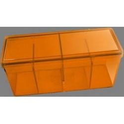 Caja 4 Espacios Acrilico Dragon Shield Naranja
