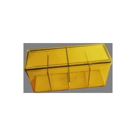 Caja 4 Espacios Acrilico Dragon Shield Amarillo