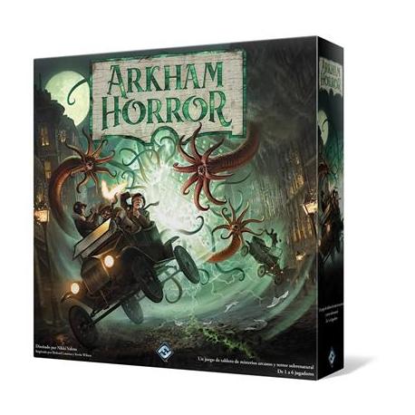Nueva edición del juego de mesa Arkham Horror de investigación. Juego de mesa cooperaivo
