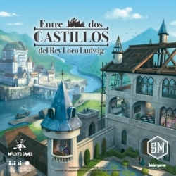 Table game Entre dos Castillos del Rey Loco Ludwig from the company Maldito Games