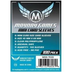 [7035] Mini Euro Card Sleeve (Pack of 100) 45 MM X 68 MM