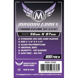 [7040] Standard USA Game Size Sleeves 56 MM X 87 MM (100 pack) (Purple)