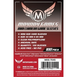 [7045] Mini Chimera Game Sleeves 43 X 65 MM (100 Pack) (Red)