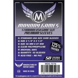 [7076] Premium USA Board Game Sleeves 56 MM X 87 MM (50 pack) (Purple)