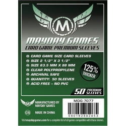 [7077] Premium Card Game Sleeves (50 Pack) 63.5 X 88 MM (Dark Green)