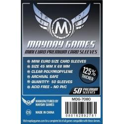 [7080] Premium Mini Euro Card Sleeve (50 pack) 45 MM X 68 MM (Dark Blue)