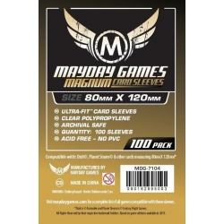 """[7104] Magnum Gold Sleeve: 80 MM X 120 MM Card Sized -""""Dixit"""""""