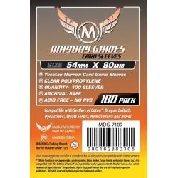[7109] Yucatan Narrow Card Game Sleeves 54 X 80 MM (100 pack)