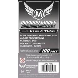 "[7113] Magnum Platinum Card Sleeve: 61 X 112 MM ""Dwarf King"" French Tarot"