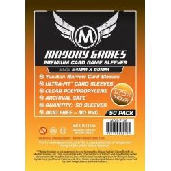 [7136] Premium Yucatan Narrow Card Game Sleeves 54 X 80 MM (50 pack)