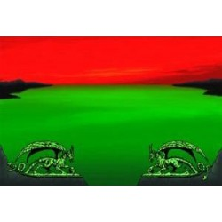 Tapete Dragon Shield Verde Y Rojo