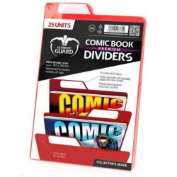 COMIC BOOK DIVIDERS - PREMIUM - RED