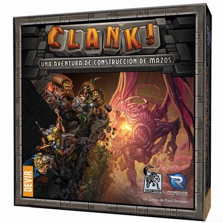 Juego de mesa de construcción de mazos Clank de Devir