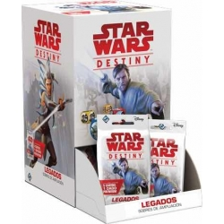 STAR WARS DESTINY - LEGADOS. SOBRES DE AMPLIACIÓN (DISPLAY 36 UNIDADES)