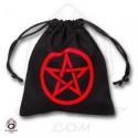 Qw Bolsa Dados Pentagrama Negro