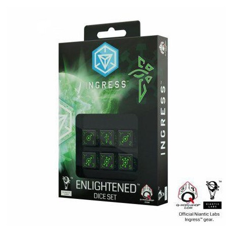 QW INGRESS 6D6 DICE SET: ENLIGHTENED (6)