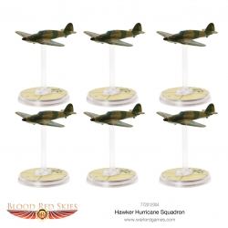 EXPANSIÓN BLOOD RED SKIES HAWKER HURRICANE SQUADRON DE WARLORD GAMES