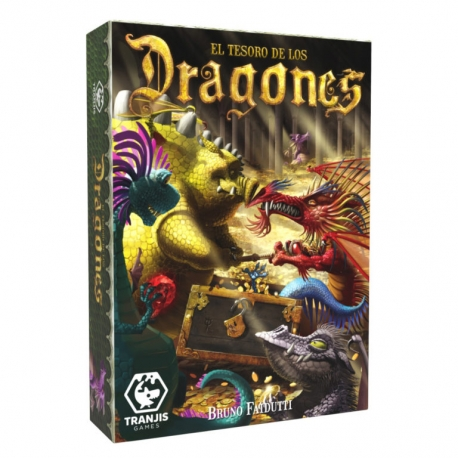Fantástico juego de cartas de la mano de Tranjis Games, El tesoro de los Dragones. Juego divertido para toda la familia