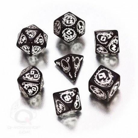 Qw Dados Set Dragones Negro (7)