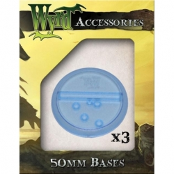 BLUE TRANSLUCENT 50MM BASES (3PK)