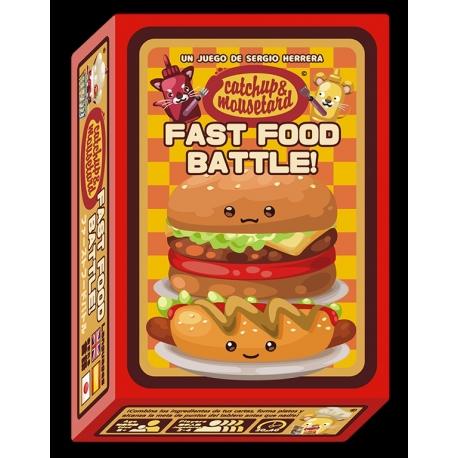 ¡Catchup & Mousetard Fast Food Battle! juego de cartas de Mixin Games