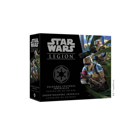 JUEGO DE MINIATURAS STAR WARS: LEGIÓN SOLDADOS COSTEROS IMPERIALES DE FANTASY FLIGHT GAMES