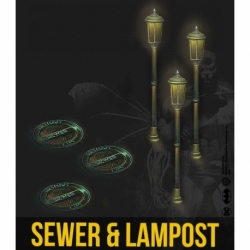 Sewer And Lamppost Resin Set
