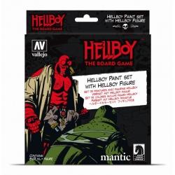Pack de botes de pintura y figura exclusiva Hellboy de Acrylicos Vallejo y Ángel Giráldez
