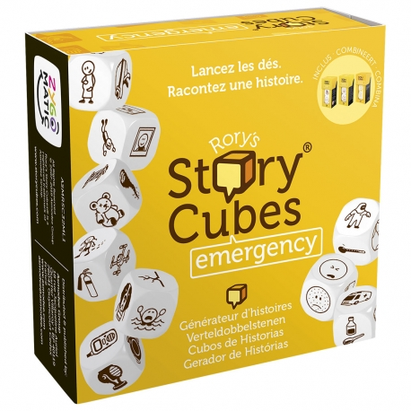 Juego de dados Story Cubes Emergency de Asmodee 3558380067207