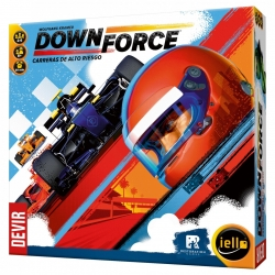 Board game Downforce High Risk Racing from Devir and Restoration Games