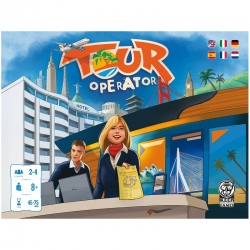 Tour Operator (Spanish / Multi-language) board game from Keep Exploring Games where you will manage a well-known travel agency