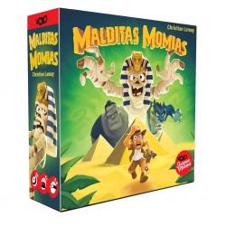 Malditas momias es un juego de astucia y engaños en el que deberás saber cuándo arriesgar para poder escapar con los tesoros.