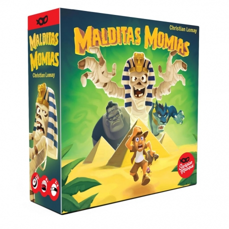Damn mummies is a game of cunning and deception in which you must know when to risk to escape with the treasures.