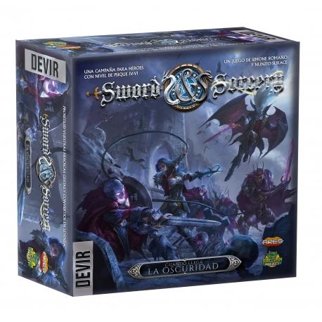 Expansión Cuando llega la oscuridad del juego de mesa Sword & Sorcery de Devir