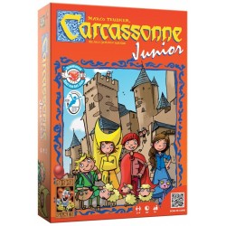 Junior Carcassonne board game for children. Game of strategy and skill