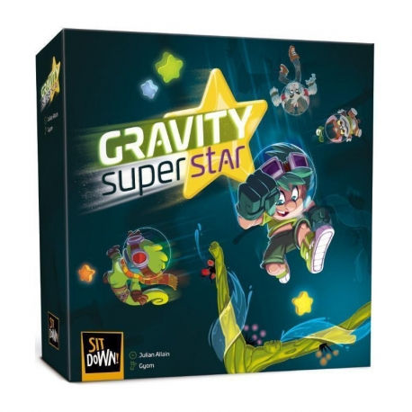 Gravity Superstar children's board game from Sit Down! and 2Tomatoes Games