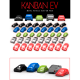 Pack of Metallic Cars for board game Kanban EV from Maldito Games