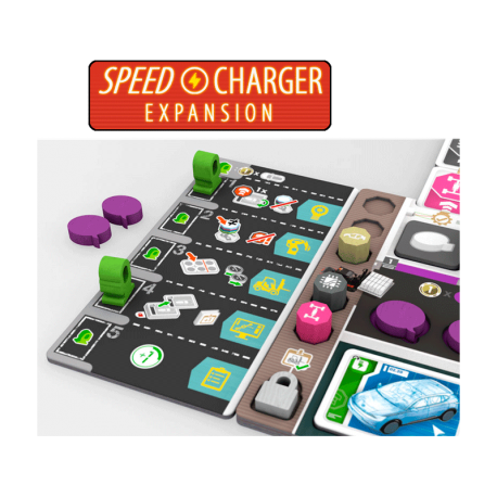 SpeedCharger Expansion for board game Kanban EV from Maldito Games