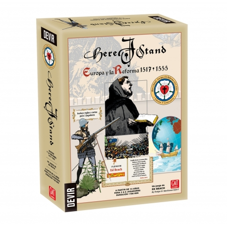 Strategy board game Here I Stand by Devir