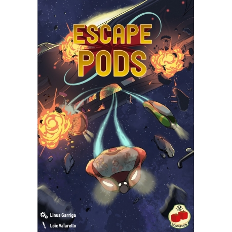 Strategy board game Escape Pods from 2Tomatoes Games