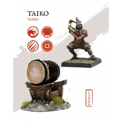 Miniature Taiko Kensei from Zenit Miniatures reference KWM007