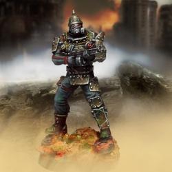Übersoldat (escopeta, armadura metálica y protección contra la contaminación)